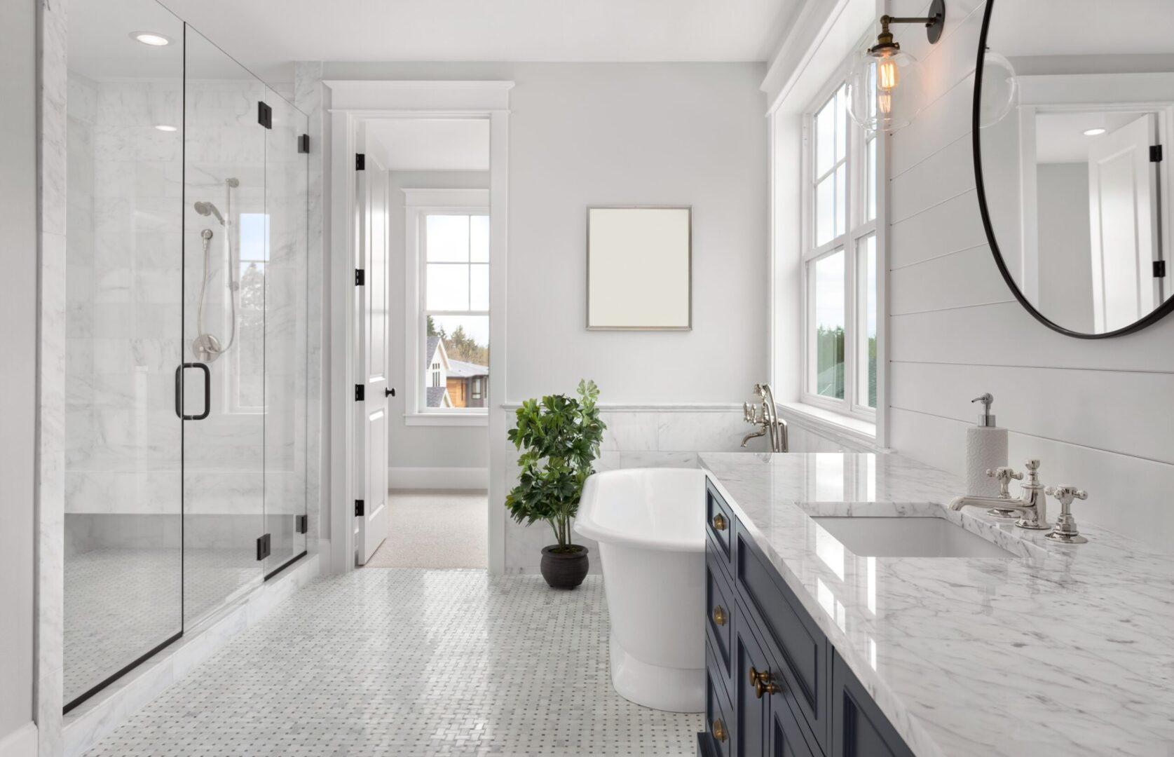 modern bathroom design in sterling va