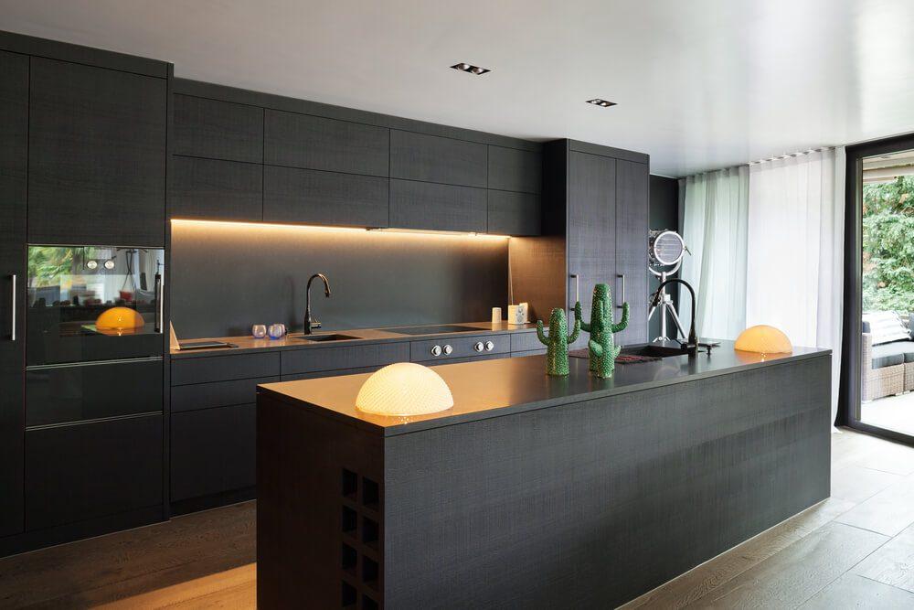 black kitchen cabinets in 2021