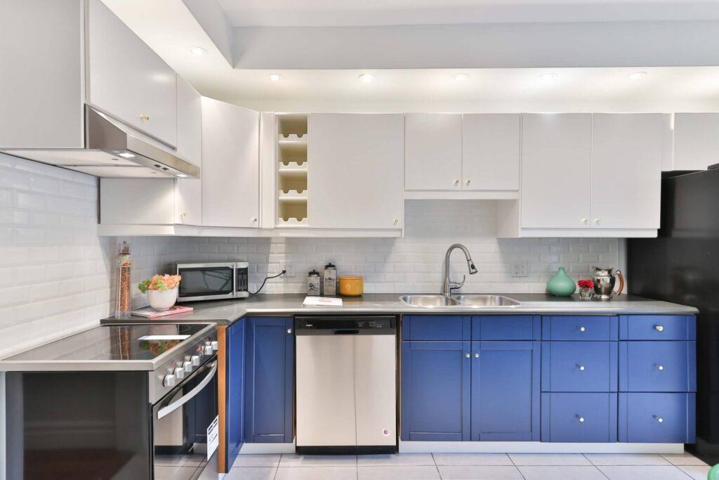 kitchen cabinet design blue